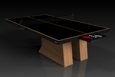 Elevate Customs modern design stilt Ping Pong Table tennis teak 1