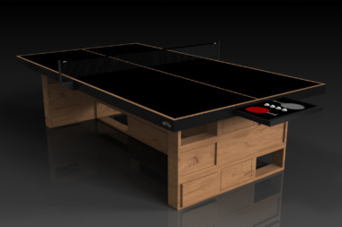 Elevate Customs modern design quota Ping Pong Table tennis teak 1