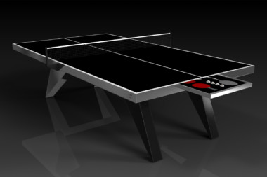 Elevate Customs Modern design Mantis Ping Pong Table tennis brushed aluminum 1
