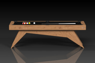 Elevate Customs Modern design Mantis pool table teak 2