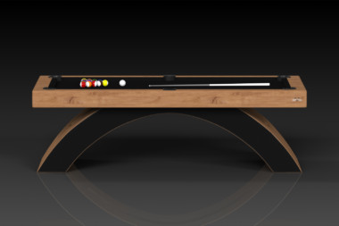 Elevate Customs modern design zenith pool table teak 2