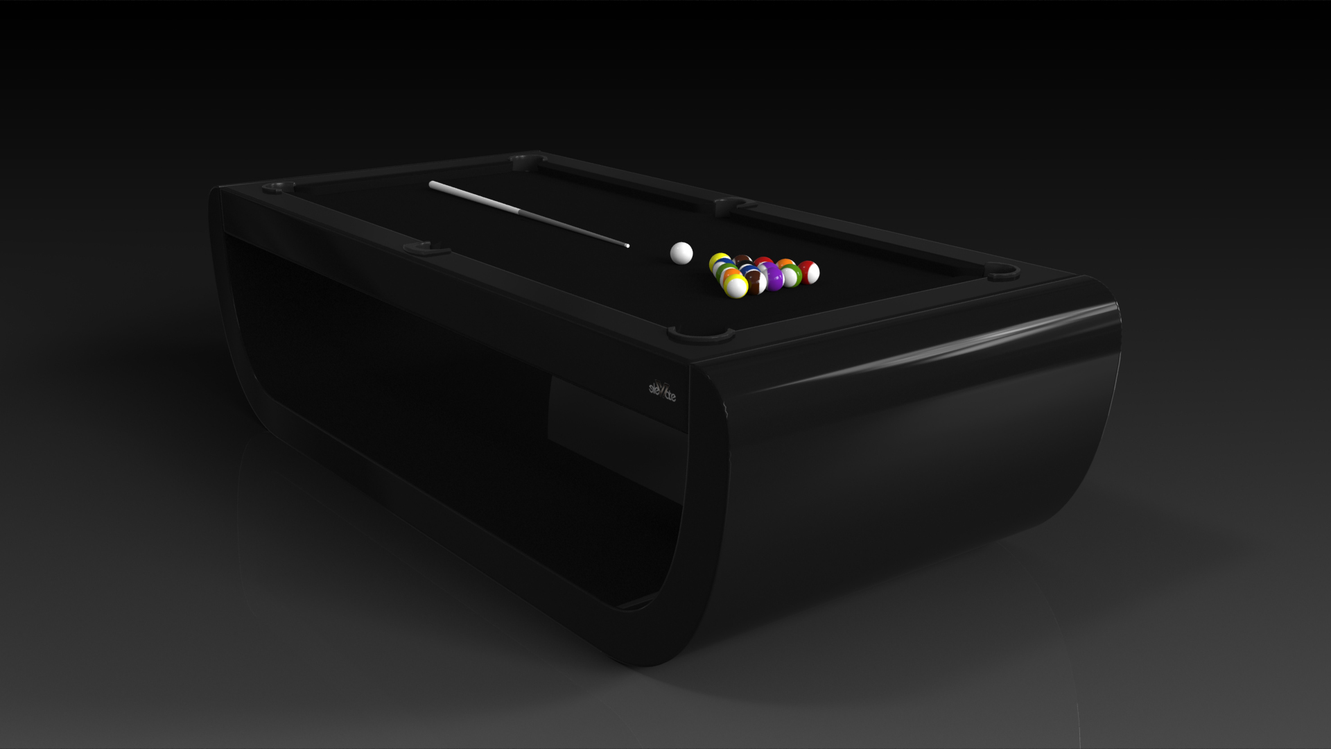 Elevate Customs modern design sid pool table black 5
