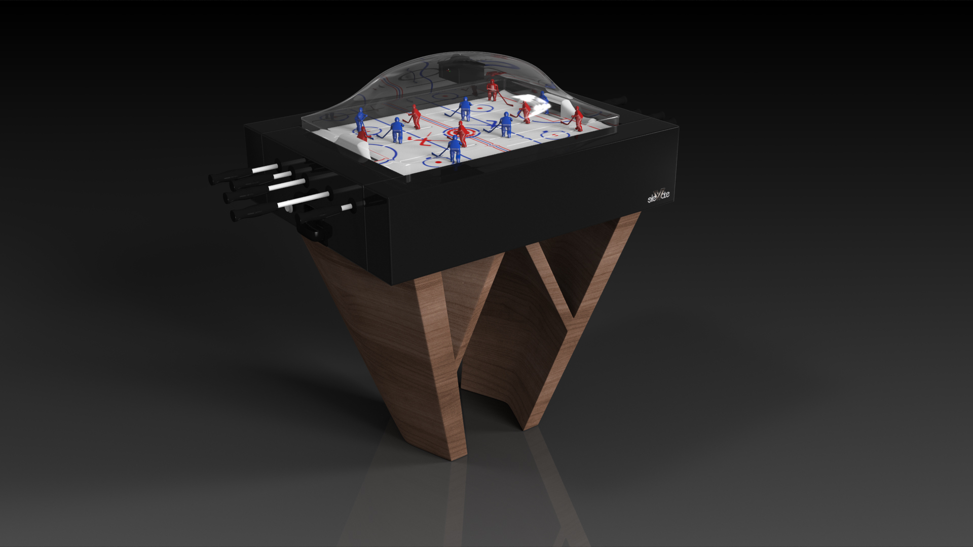 Maze Walnut Dome Hockey