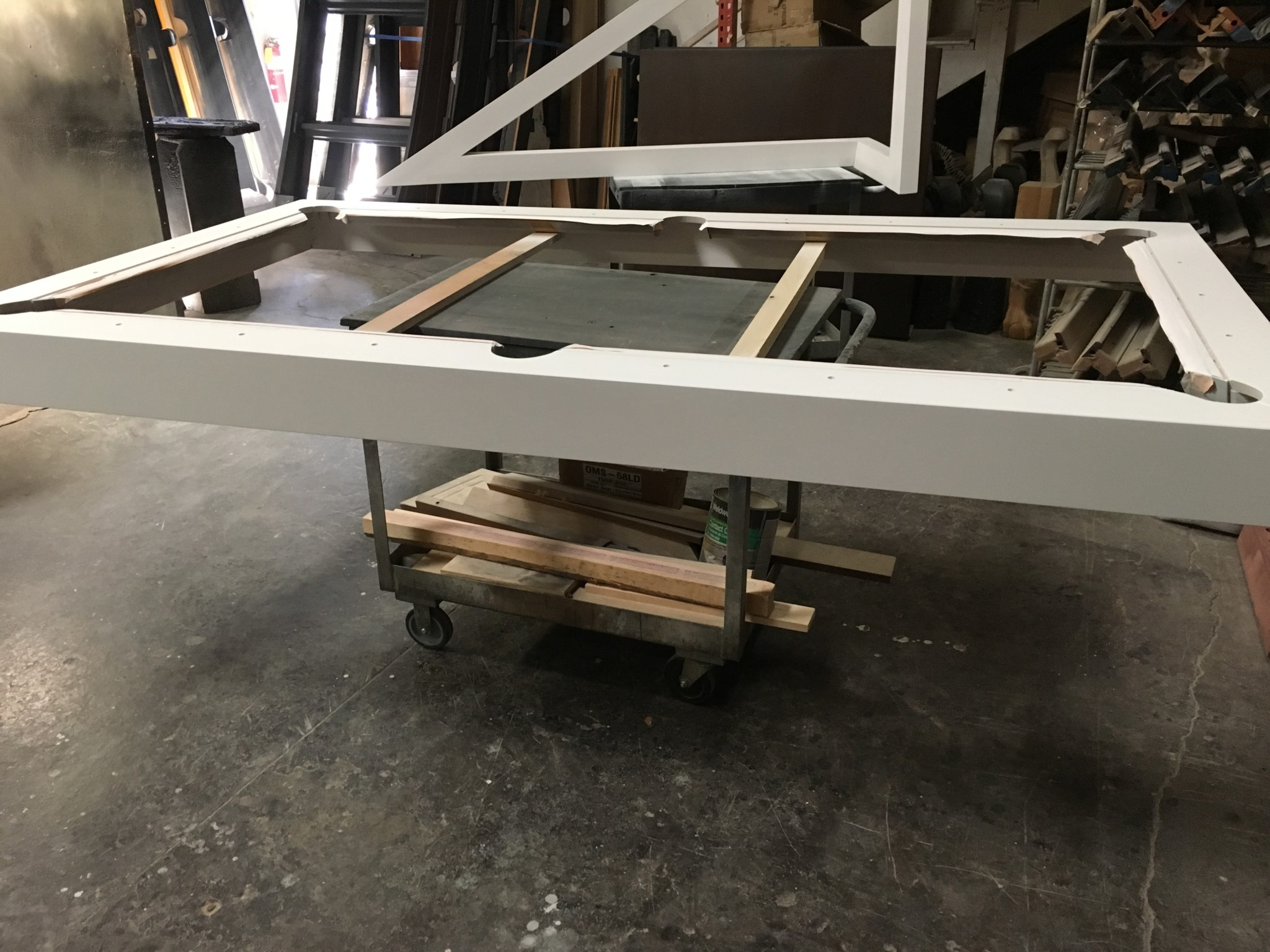 Rails Trinity Pool Table