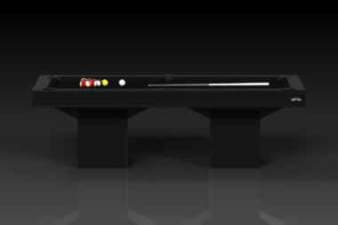 Elevate Customs modern design trestle pool table black 2