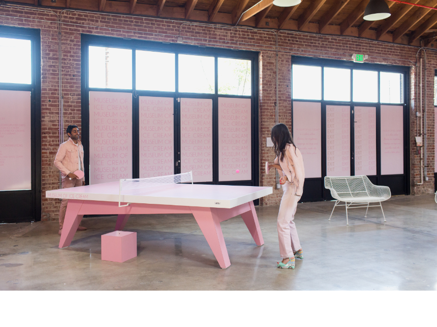 Museum of Ice Cream Ping Pong Table