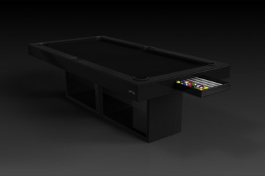 Ambrosia Pool Table in Black