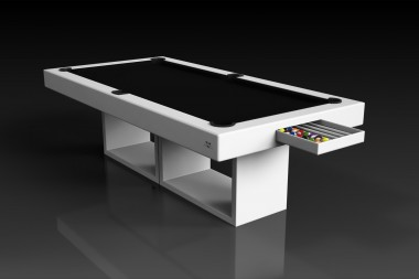 Ambrosia Pool Table in White