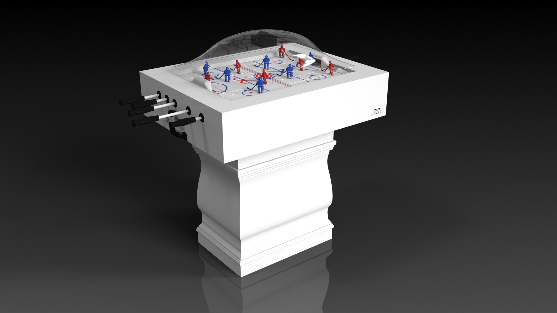 Baluster Dome Hockey White