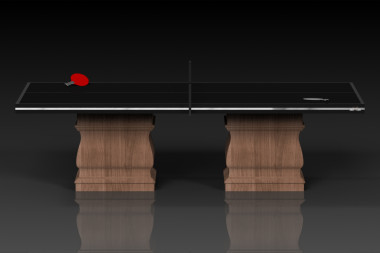 Baluster Table Tennis in Walnut