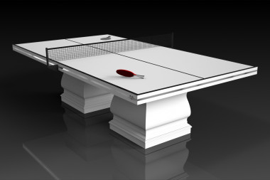 Baluster Table Tennis in White