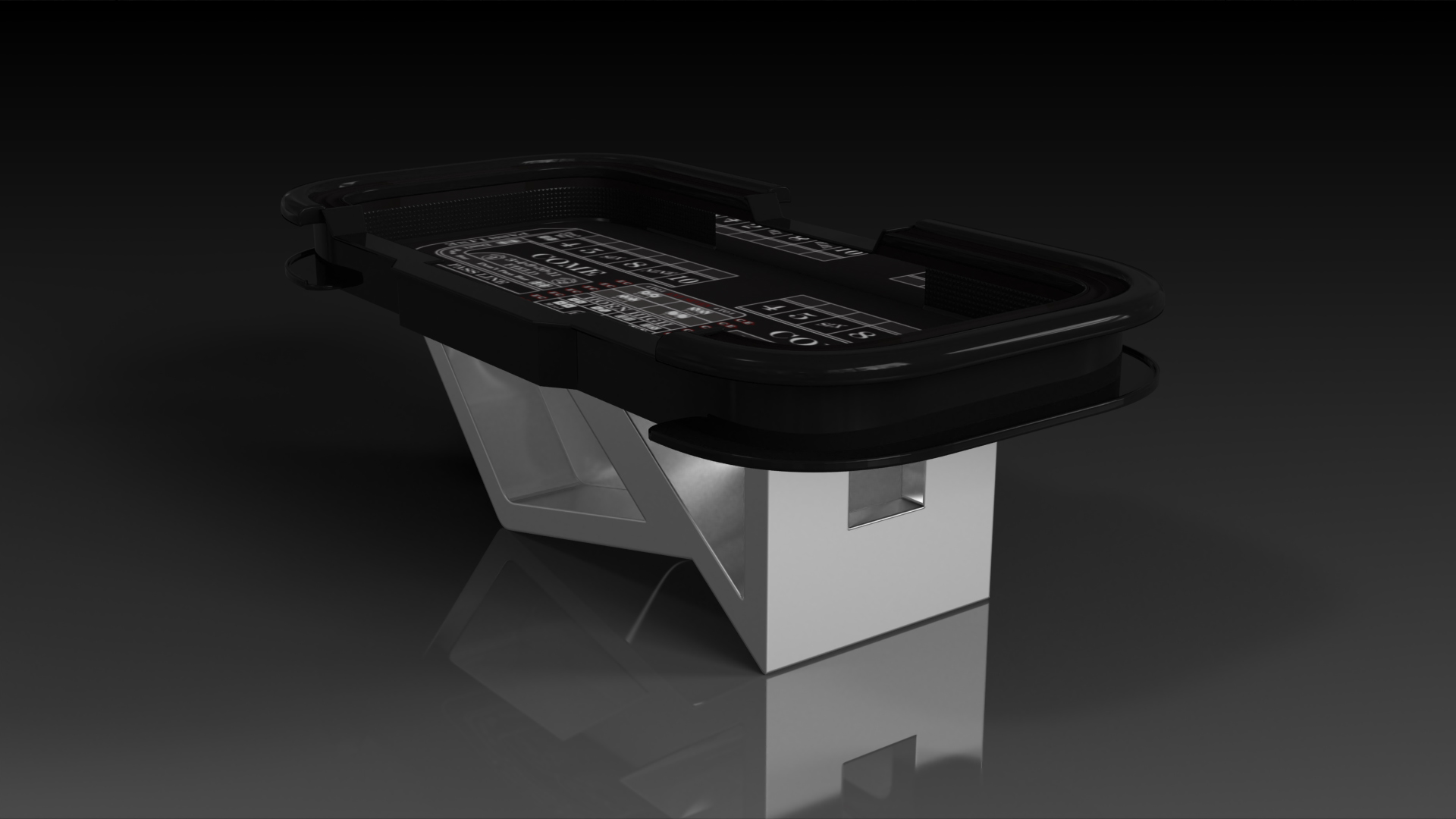 Rumba Brushed Aluminum Craps