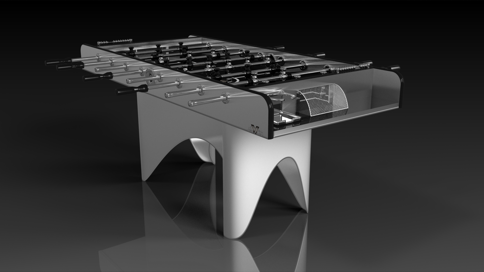 Ellipse Brushed Aluminum Foosball
