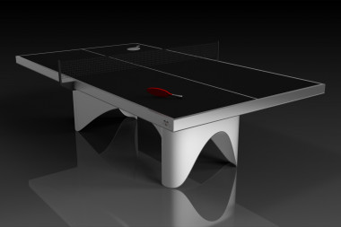Ellipse Brushed Aluminum Table Tennis