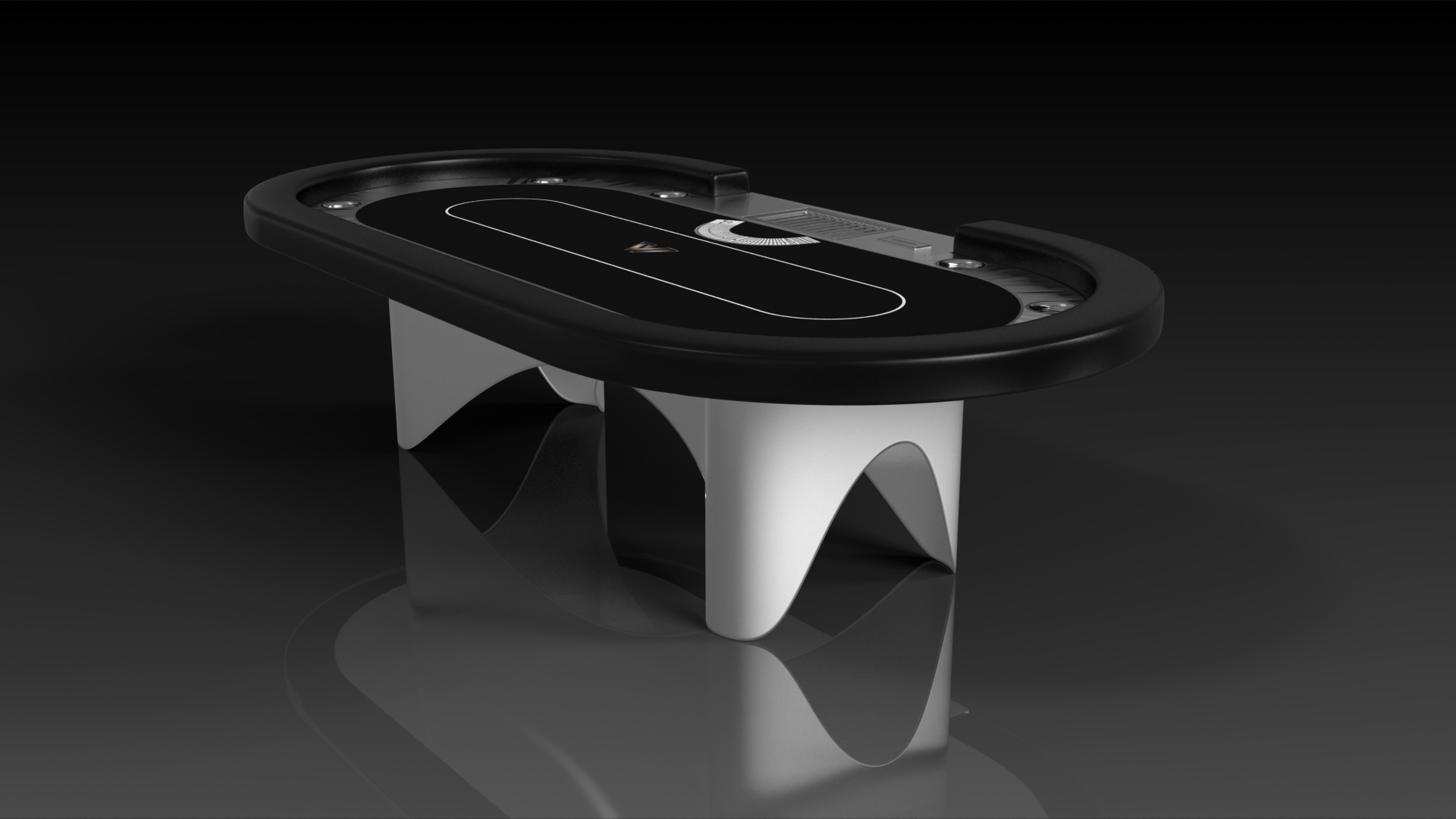 Ellipse Brushed Aluminum Poker